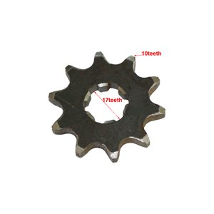 Sprocket 10 Dents Chain 420 17 MM